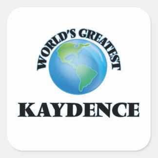 Kaydence más grande del mundo pegatina cuadrada