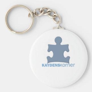 Kaydens Korner Basic Round Button Keychain