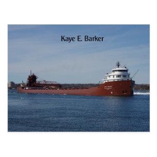Kaye E. Barker post card