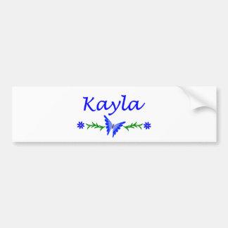 Kayla (Blue Butterfly) Bumper Sticker