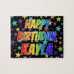 "[ Thumbnail: ""Kayla"" First Name, Fun ""Happy Birthday"" Jigsaw Puzzle ]"
