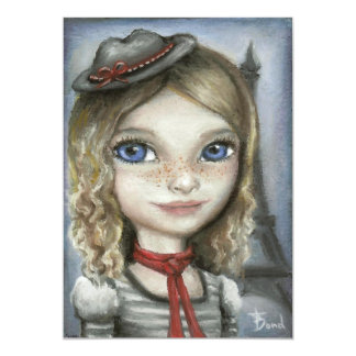"Kayla in Paris 5"" X 7"" Invitation Card"