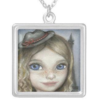 Kayla in Paris Square Pendant Necklace