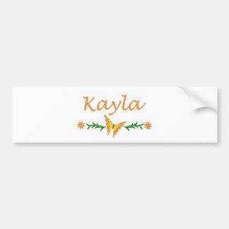 Kayla (Orange Butterfly) Bumper Stickers