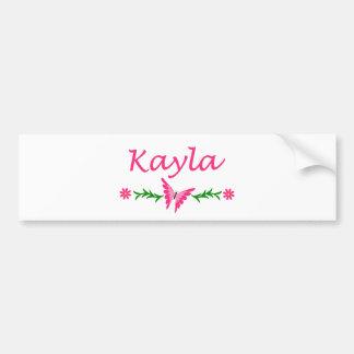 Kayla (Pink Butterfly) Bumper Sticker