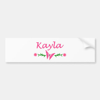 Kayla (Pink Butterfly) Bumper Stickers