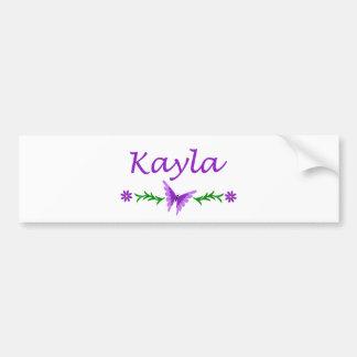 Kayla (Purple Butterfly) Bumper Sticker