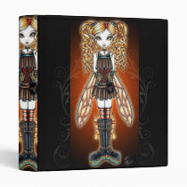 steam, punk, fairy, binder, faerie, kayla, myka, jelina, fantasy, art, faery, fairies, fae, gothic, characters, Binder with custom graphic design