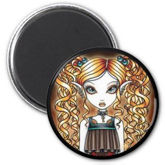 Kayla Steampunk Fairy Close Up Magnet