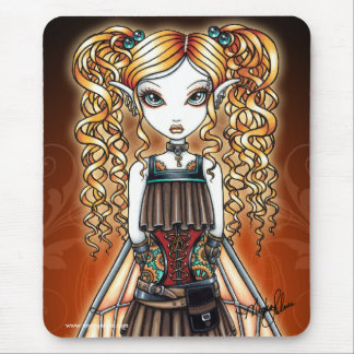 """Kayla"" Steampunk Fairy Close Up Mouspad Mouse Pad"