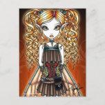 """Kayla"" Steampunk Fairy Close Up Postcard"