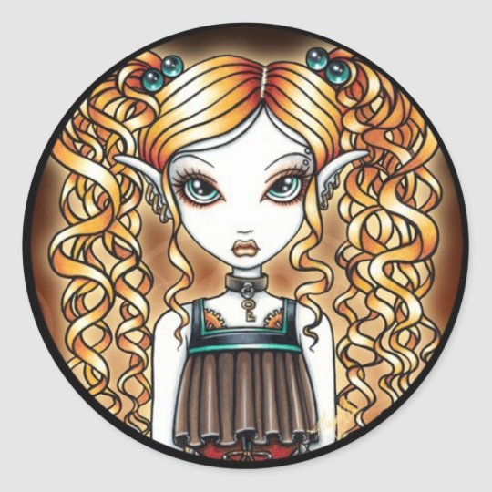 """Kayla"" Steampunk Fairy Close Up Sticker"