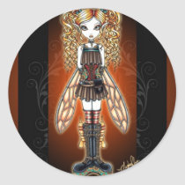 steam, punk, fairy, stickers, faerie, kayla, myka, jelina, fantasy, art, faery, fairies, fae, gothic, characters, Sticker with custom graphic design