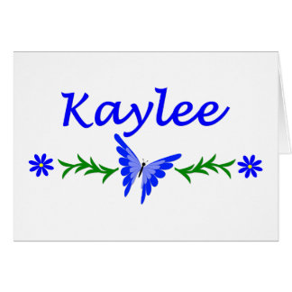 Kaylee (Blue Butterfly) Card