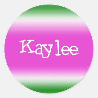 Kaylee Pegatina Redonda