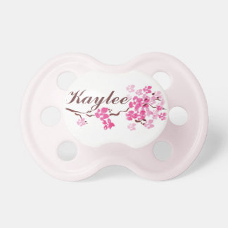 """""""Kaylee"""" Personalized Name Cherry Blossom Pacifier"""