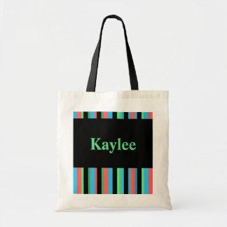 Kaylee Pretty Striped Tote Bag