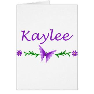 Kaylee (Purple Butterfly) Card