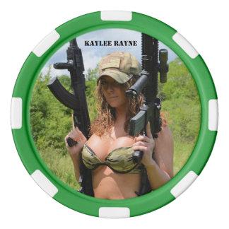 """Kaylee Rayne- """"Gunz"""" Poker Chips (25 total)"""