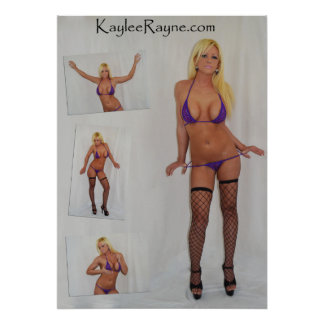 "Kaylee Rayne- ""Purple Bikini Ad"" Poster (28x20)"