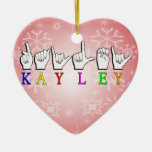 KAYLEY ASL FINGERSPELLED ORNAMENTO PARA ARBOL DE NAVIDAD