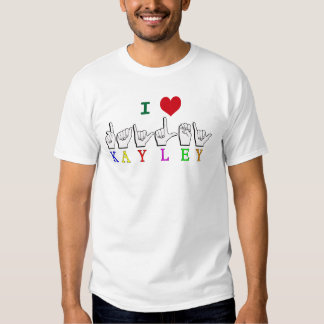 KAYLEY  ASL FINGERSPELLED T SHIRT