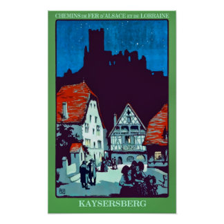 Kaysersberg France Vintage Travel Advert Poster