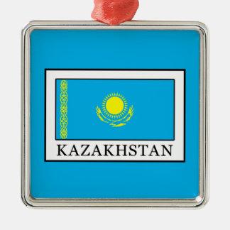 Kazajistán Adorno Navideño Cuadrado De Metal