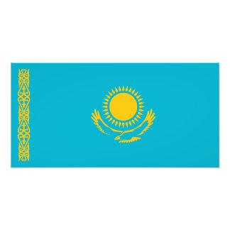 Kazajistán - bandera del Kazakh Impresion Fotografica