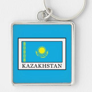 Kazajistán Llavero Cuadrado Plateado