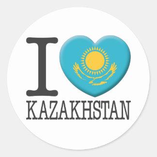 Kazajistán Pegatina Redonda