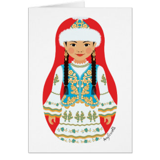 Kazakh Matryoshka Card
