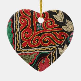 Kazakh Pattern Ceramic Ornament