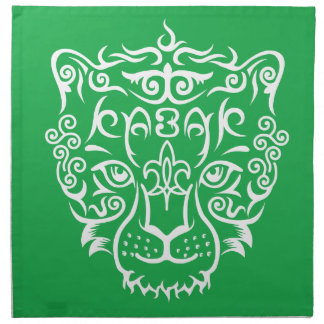 Kazakh style with snow leopard pattern printed napkins