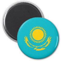 Kazakhstan country long flag nation symbol republi magnet