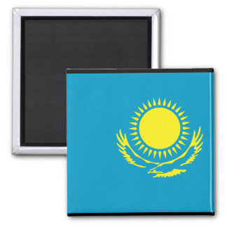 Kazakhstan Flag 2 Inch Square Magnet