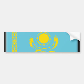 Kazakhstan Flag Car Bumper Sticker
