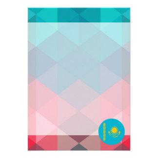 """Kazakhstan flag circle on modern bokeh 5"""" x 7"""" invitation card"""