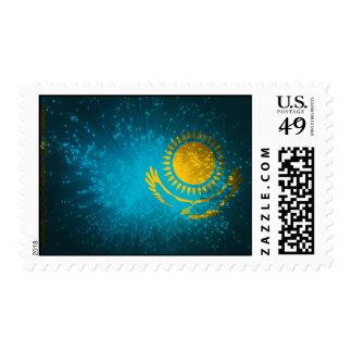 Kazakhstan Flag Firework Postage Stamps