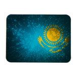 Kazakhstan Flag Firework Rectangular Magnet