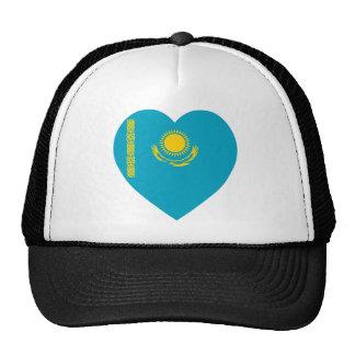 Kazakhstan Flag Heart Trucker Hat