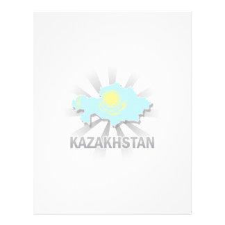 Kazakhstan Flag Map 2.0 Personalized Letterhead