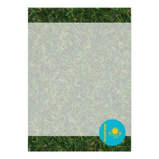 "Kazakhstan Flag on Grass 5"" X 7"" Invitation Card"