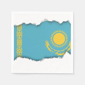 Kazakhstan Flag Paper Napkin