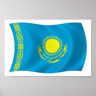 Kazakhstan Flag Poster Print
