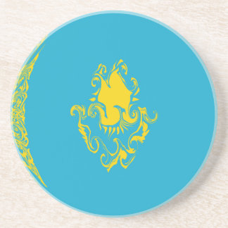 Kazakhstan Gnarly Flag Drink Coasters