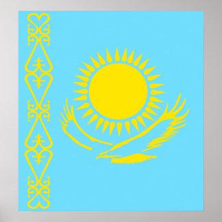 Kazakhstan High quality Flag Print