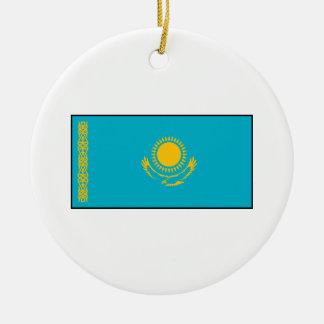 Kazakhstan – Kazakh Flag Ceramic Ornament