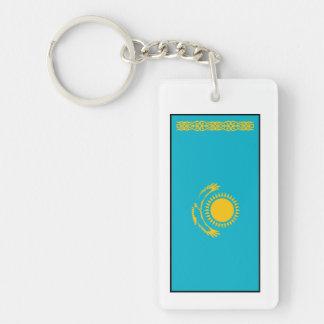 Kazakhstan – Kazakh Flag Double-Sided Rectangular Acrylic Keychain
