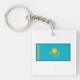 Kazakhstan – Kazakh Flag Double-Sided Square Acrylic Keychain